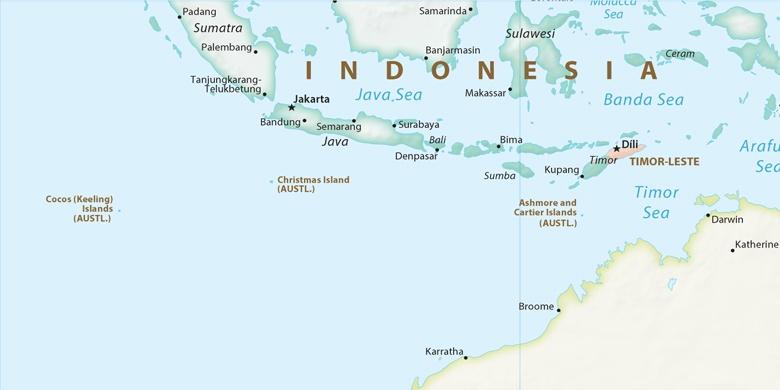 Cartina Bali Indonesia.Giacarta Sulla Mappa