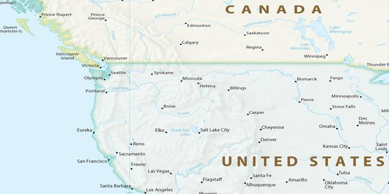 Seattle Cartina.Seattle Sulla Mappa