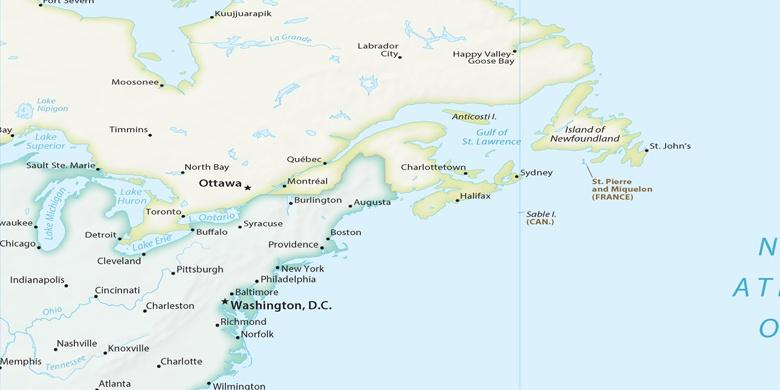Cartina America New York.New York Sulla Mappa