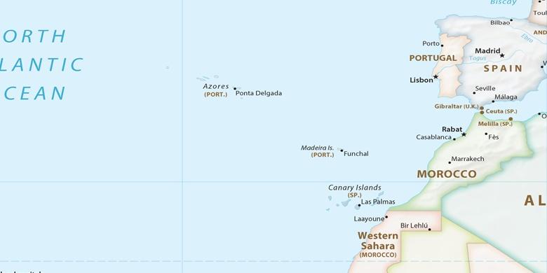 Portogallo Cartina Geografica Politica.Funchal Sulla Mappa