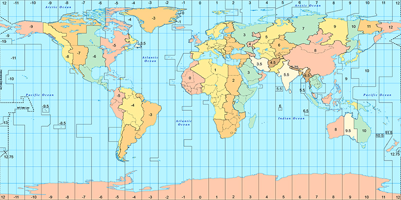 Cartina Fusi Orari Mondo.New York Sulla Mappa